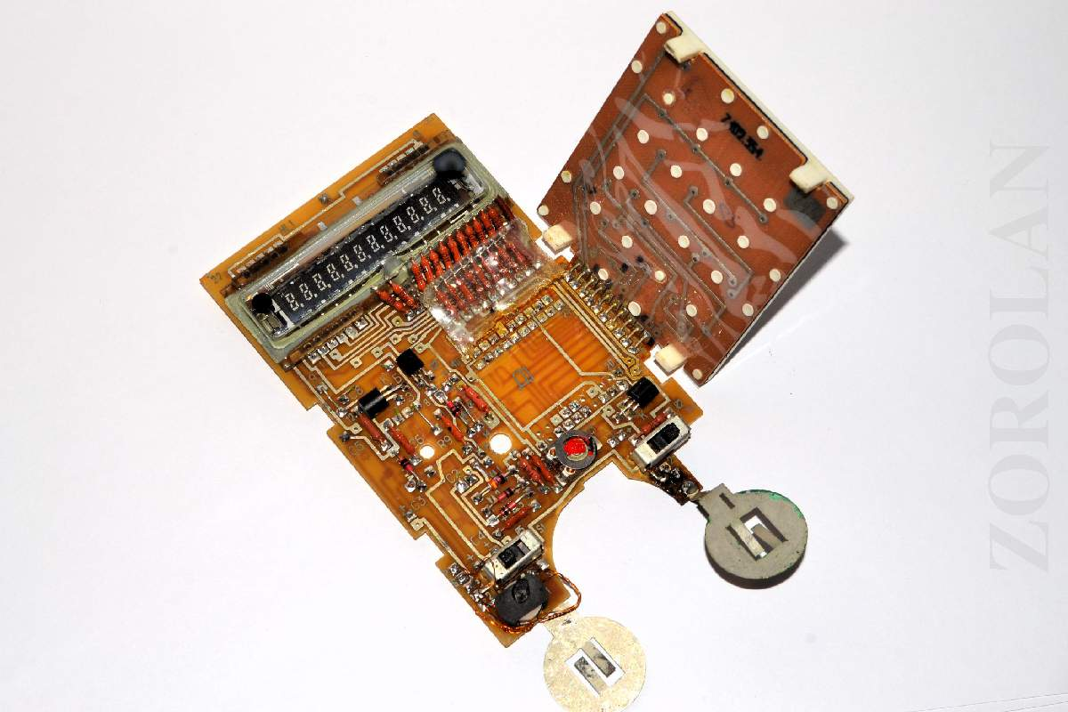 Vintage Circuit Board Pcb With Vfd Indicator Tube From Soviet Custom Printed Electronic Made Russian Calculator 2