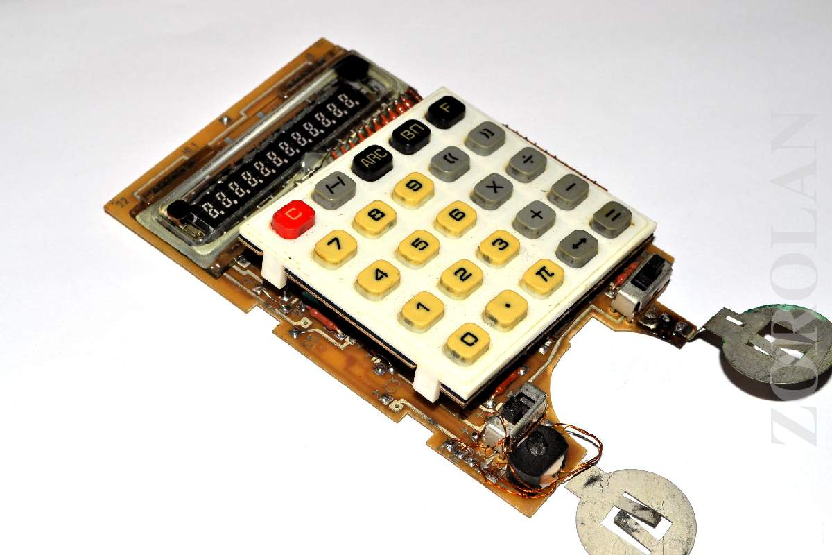 Vintage Circuit Board Pcb With Vfd Indicator Tube From Soviet Switch Pcbpcb Boardpcb Manufacturing Product Russian Calculator